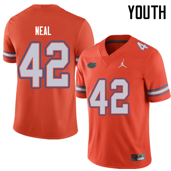 Jordan Brand Youth #42 Keanu Neal Florida Gators College Football Jerseys Sale-Orange
