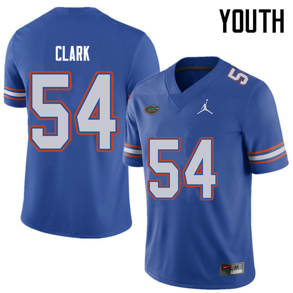 Jordan Brand Youth #54 Khairi Clark Florida Gators College Football Jerseys Sale-Royal