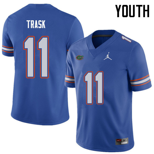Jordan Brand Youth #11 Kyle Trask Florida Gators College Football Jerseys Sale-Royal