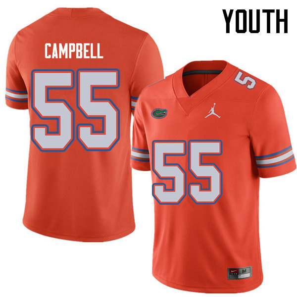 Jordan Brand Youth #55 Kyree Campbell Florida Gators College Football Jerseys Sale-Orange