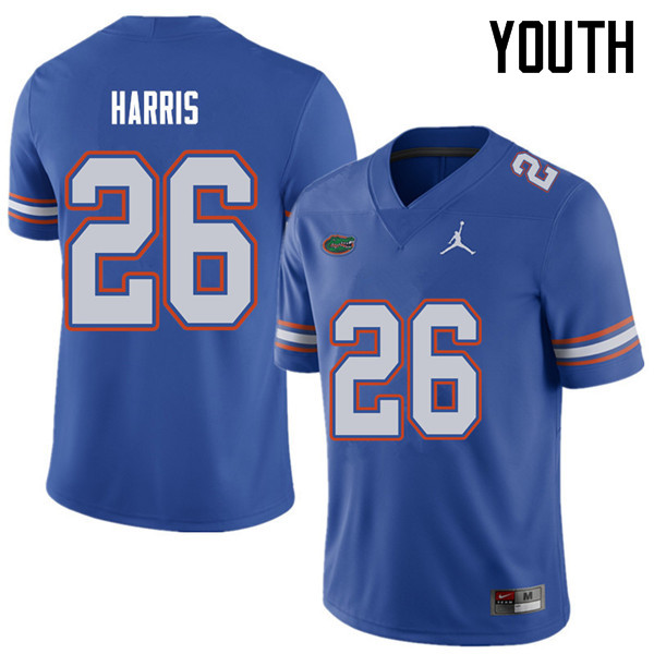 Jordan Brand Youth #26 Marcell Harris Florida Gators College Football Jerseys Sale-Royal