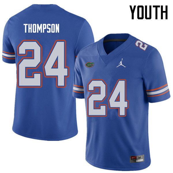 Jordan Brand Youth #24 Mark Thompson Florida Gators College Football Jerseys Sale-Royal