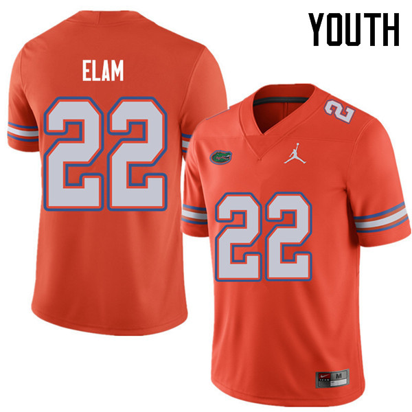 Jordan Brand Youth #22 Matt Elam Florida Gators College Football Jerseys Sale-Orange
