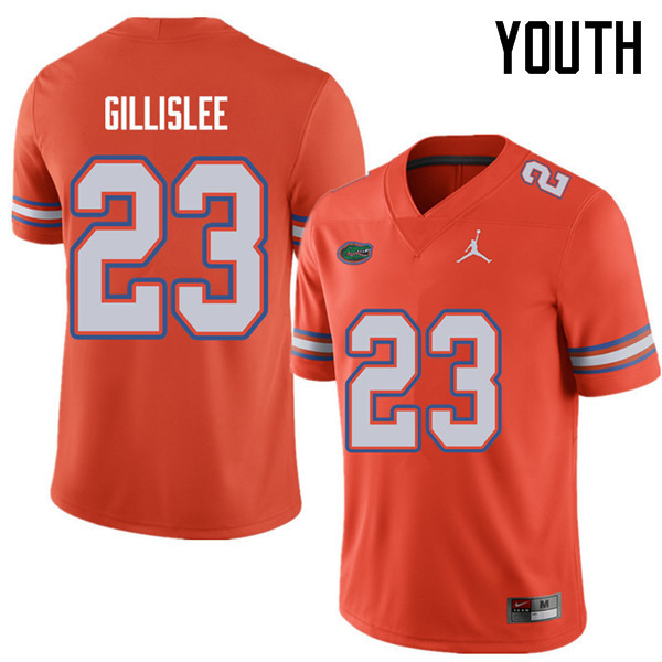 Jordan Brand Youth #23 Mike Gillislee Florida Gators College Football Jerseys Sale-Orange