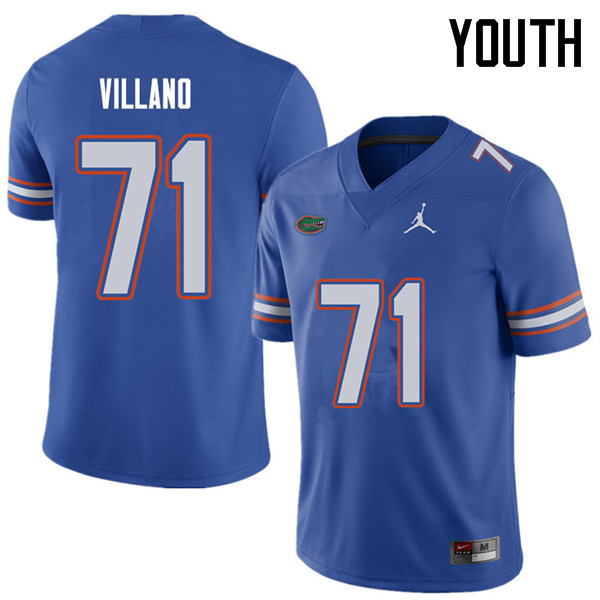 Jordan Brand Youth #71 Nick Villano Florida Gators College Football Jerseys Sale-Royal