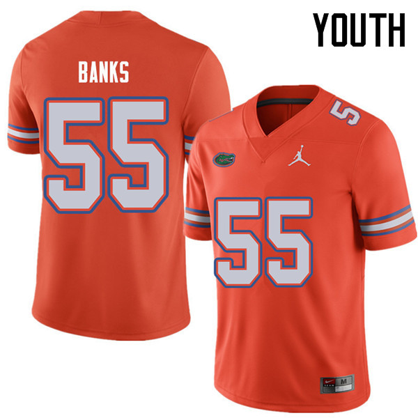 Jordan Brand Youth #55 Noah Banks Florida Gators College Football Jerseys Sale-Orange
