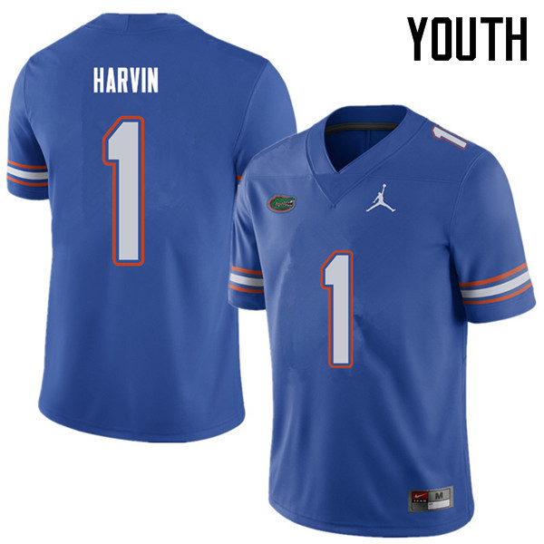 Jordan Brand Youth #1 Percy Harvin Florida Gators College Football Jerseys Sale-Royal