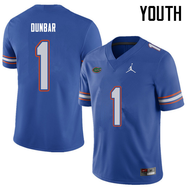 Jordan Brand Youth #1 Quinton Dunbar Florida Gators College Football Jerseys Sale-Royal