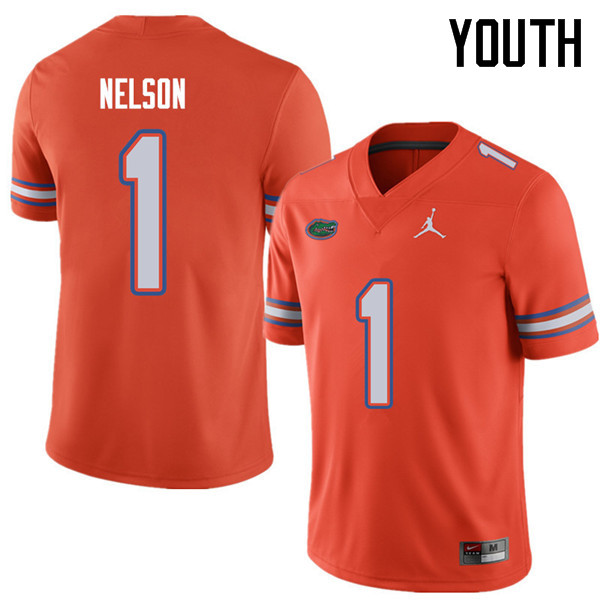 Jordan Brand Youth #1 Reggie Nelson Florida Gators College Football Jerseys Sale-Orange
