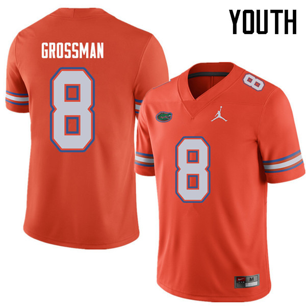 Jordan Brand Youth #8 Rex Grossman Florida Gators College Football Jerseys Sale-Orange