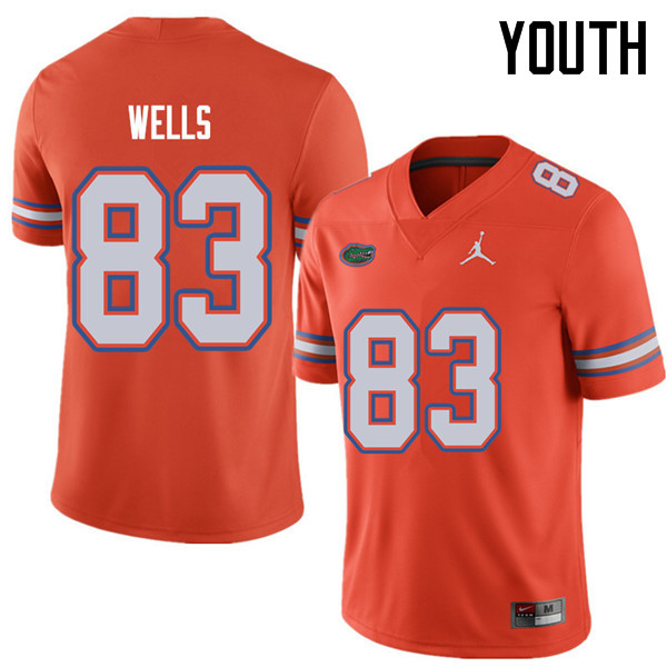 Jordan Brand Youth #83 Rick Wells Florida Gators College Football Jerseys Sale-Orange