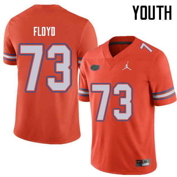 Jordan Brand Youth #73 Sharrif Floyd Florida Gators College Football Jerseys Sale-Orange