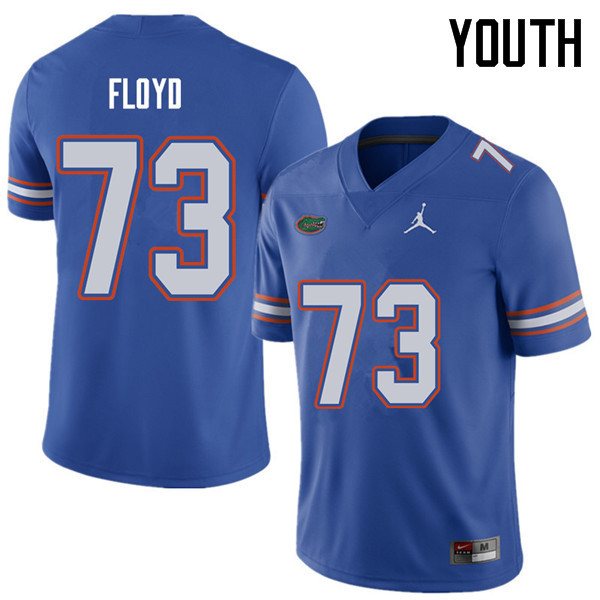 Jordan Brand Youth #73 Sharrif Floyd Florida Gators College Football Jerseys Sale-Royal