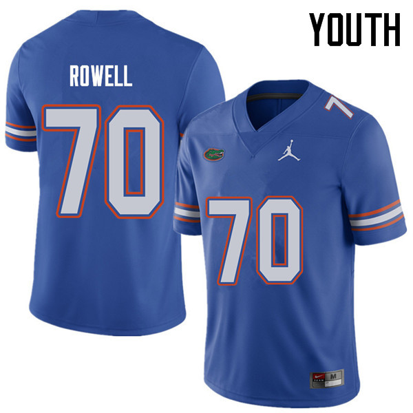 Jordan Brand Youth #70 Tanner Rowell Florida Gators College Football Jerseys Sale-Royal