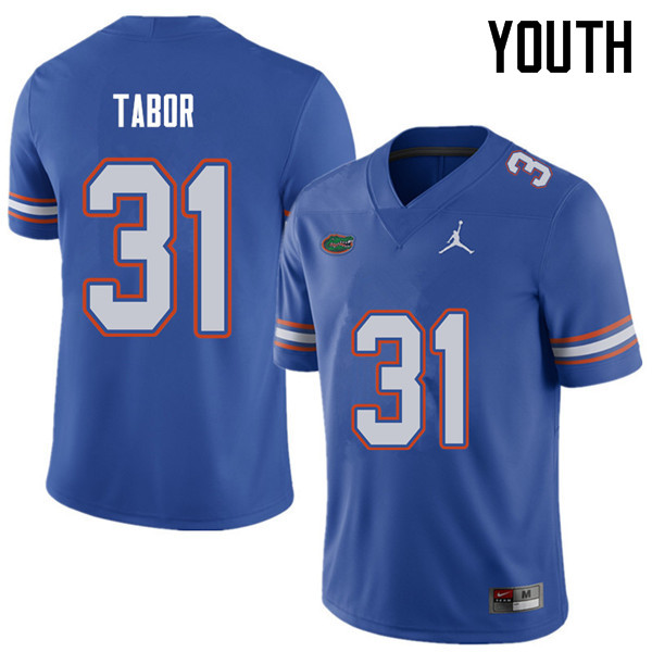 Jordan Brand Youth #31 Teez Tabor Florida Gators College Football Jerseys Sale-Royal