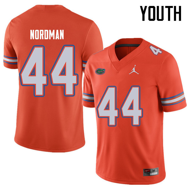Jordan Brand Youth #44 Tucker Nordman Florida Gators College Football Jerseys Sale-Orange