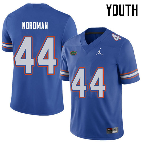 Jordan Brand Youth #44 Tucker Nordman Florida Gators College Football Jerseys Sale-Royal