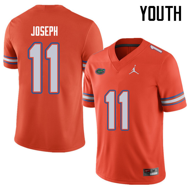 Jordan Brand Youth #11 Vosean Joseph Florida Gators College Football Jerseys Sale-Orange