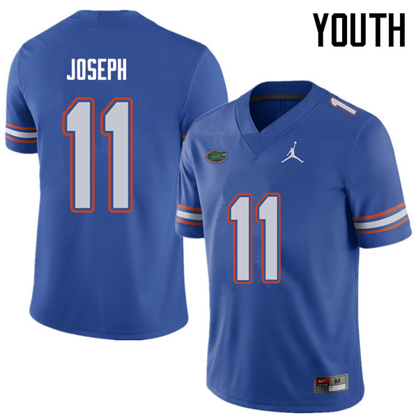 Jordan Brand Youth #11 Vosean Joseph Florida Gators College Football Jerseys Sale-Royal