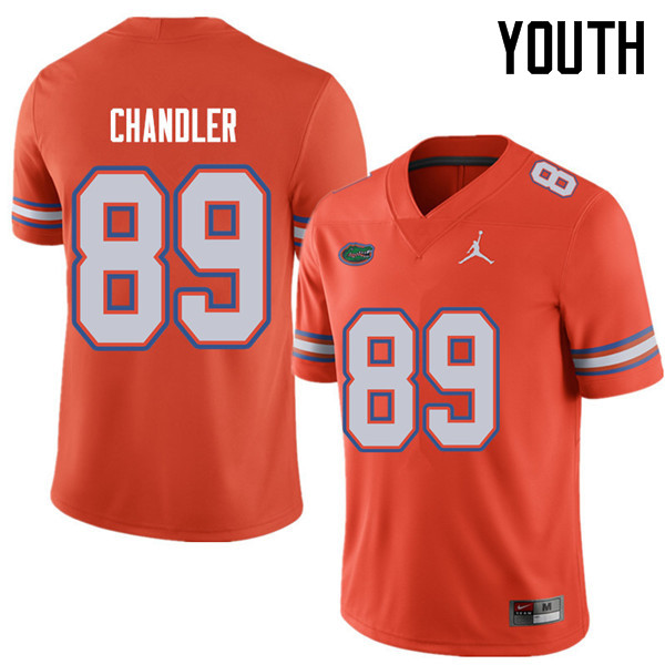 Jordan Brand Youth #89 Wes Chandler Florida Gators College Football Jerseys Sale-Orange