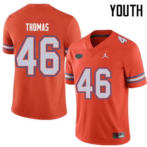 Jordan Brand Youth #46 Will Thomas Florida Gators College Football Jerseys Sale-Orange