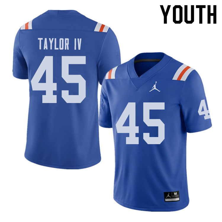 Jordan Brand Youth #45 Clifford Taylor IV Florida Gators Throwback Alternate College Football Jersey