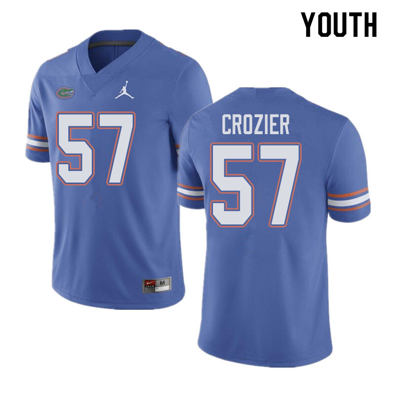 Jordan Brand Youth #57 Coleman Crozier Florida Gators College Football Jerseys Sale-Blue