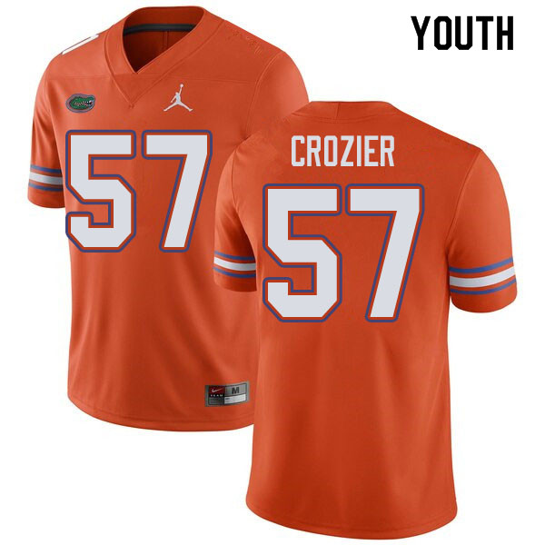 Jordan Brand Youth #57 Coleman Crozier Florida Gators College Football Jerseys Sale-Orange