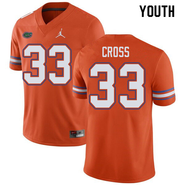 Jordan Brand Youth #33 Daniel Cross Florida Gators College Football Jerseys Sale-Orange