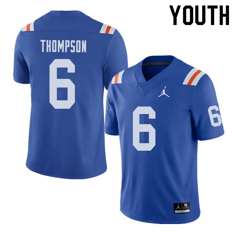 Jordan Brand Youth #6 Deonte Thompson Florida Gators Throwback Alternate College Football Jerseys Sa