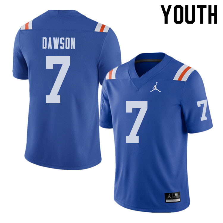 Jordan Brand Youth #7 Duke Dawson Florida Gators Throwback Alternate College Football Jerseys Sale-R