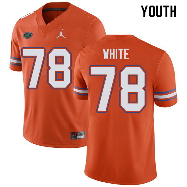 Jordan Brand Youth #78 Ethan White Florida Gators College Football Jerseys Sale-Orange