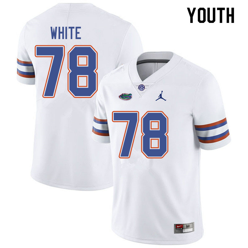 Jordan Brand Youth #78 Ethan White Florida Gators College Football Jerseys Sale-White