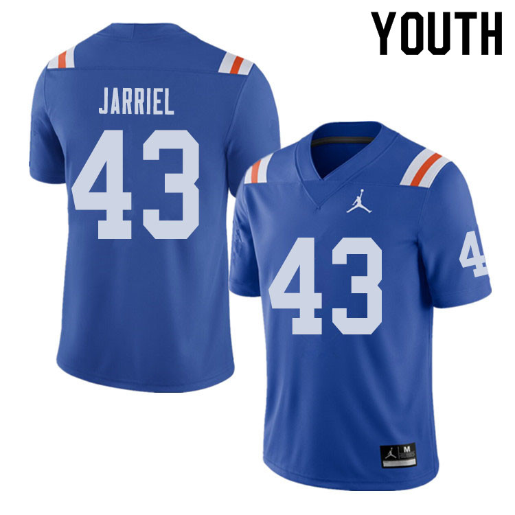 Jordan Brand Youth #43 Glenn Jarriel Florida Gators Throwback Alternate College Football Jerseys Sal