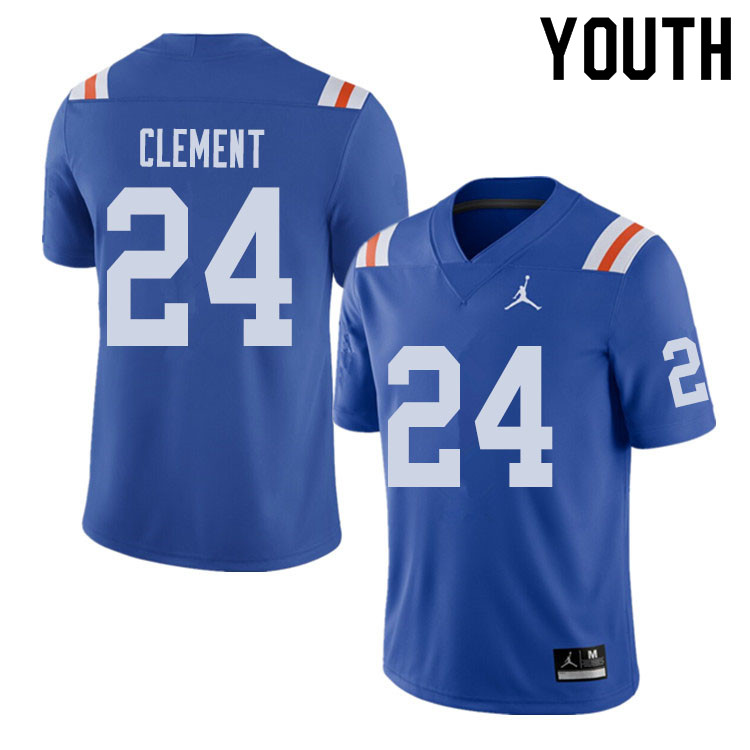 Jordan Brand Youth #24 Iverson Clement Florida Gators Throwback Alternate College Football Jerseys S