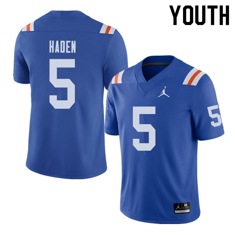 Jordan Brand Youth #5 Joe Haden Florida Gators Throwback Alternate College Football Jerseys Sale-Roy