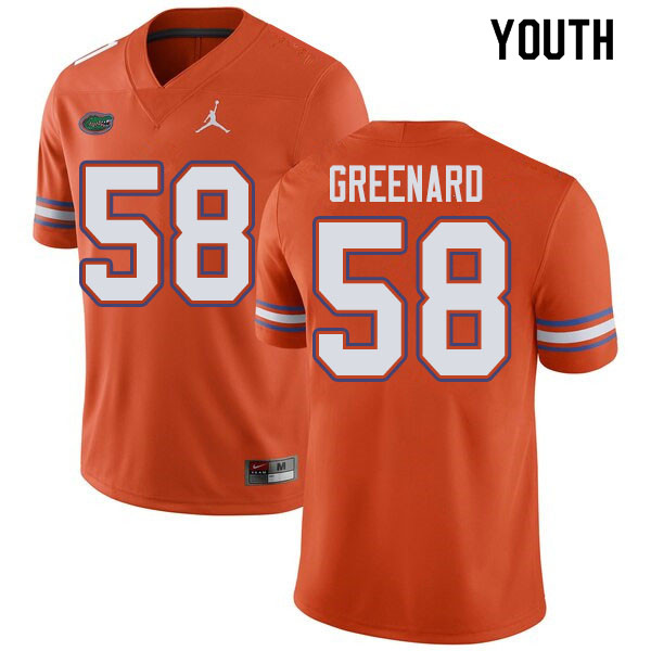 Jordan Brand Youth #58 Jonathan Greenard Florida Gators College Football Jerseys Sale-Orange