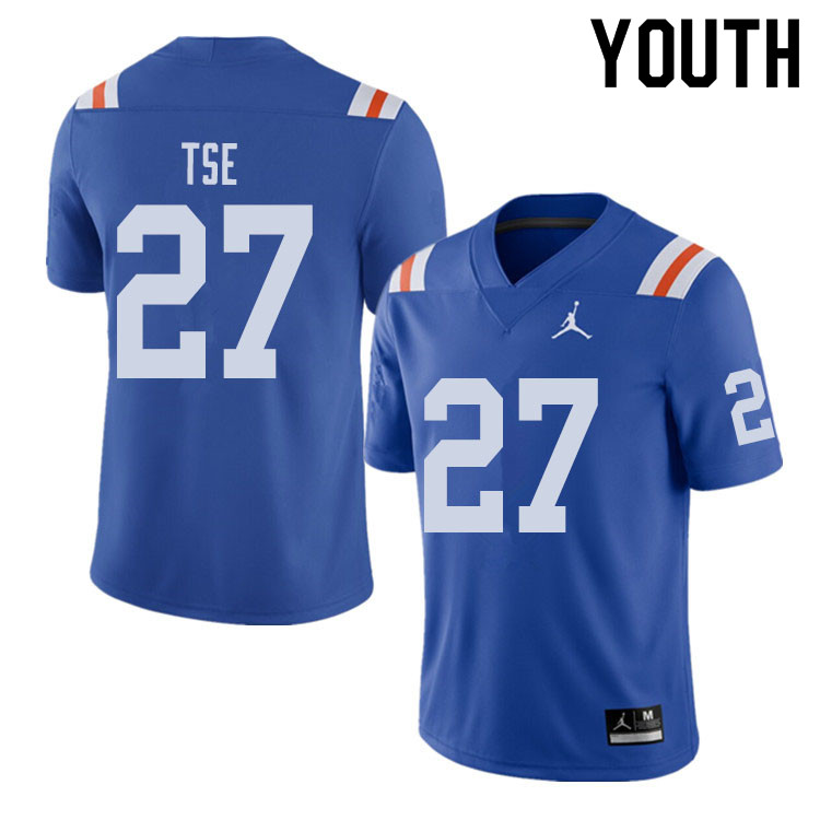 Jordan Brand Youth #27 Joshua Tse Florida Gators Throwback Alternate College Football Jerseys Sale-R