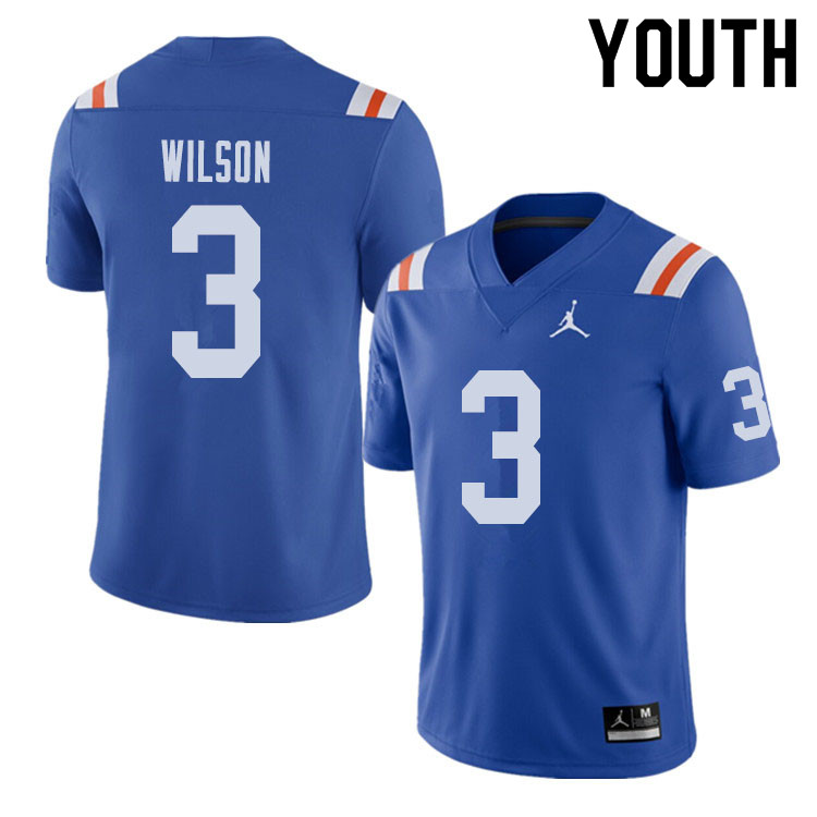 Jordan Brand Youth #3 Marco Wilson Florida Gators Throwback Alternate College Football Jerseys Sale-