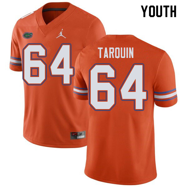 Jordan Brand Youth #64 Michael Tarquin Florida Gators College Football Jerseys Sale-Orange