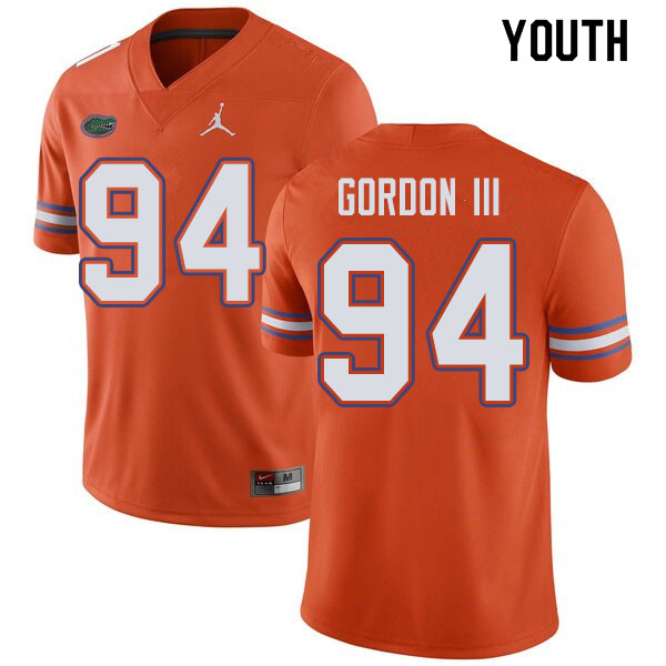 Jordan Brand Youth #94 Moses Gordon III Florida Gators College Football Jerseys Sale-Orange