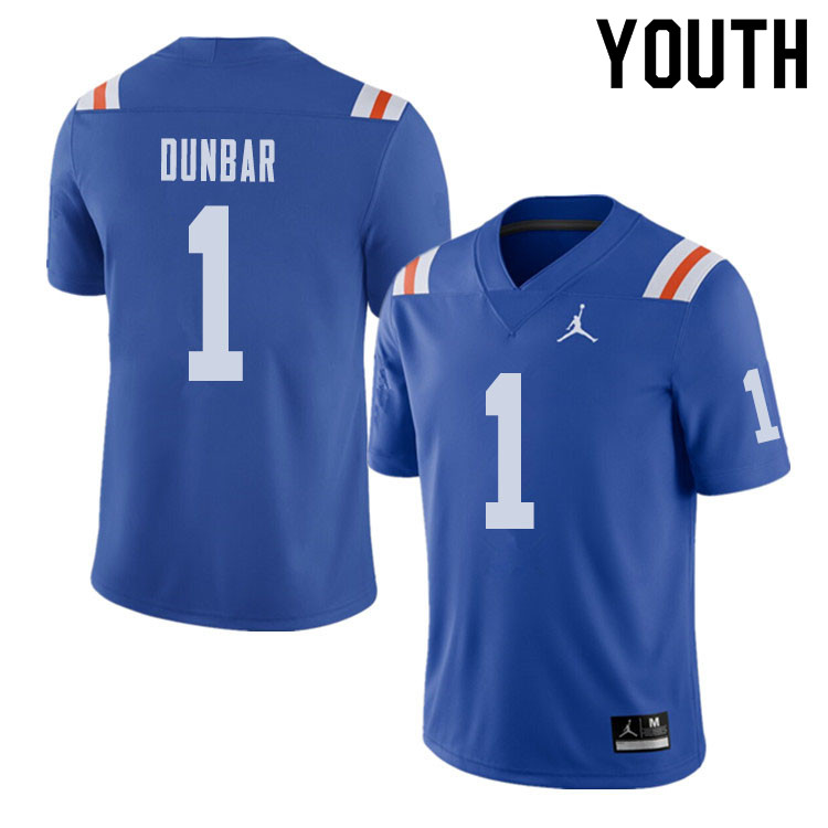Jordan Brand Youth #1 Quinton Dunbar Florida Gators Throwback Alternate College Football Jerseys Sal