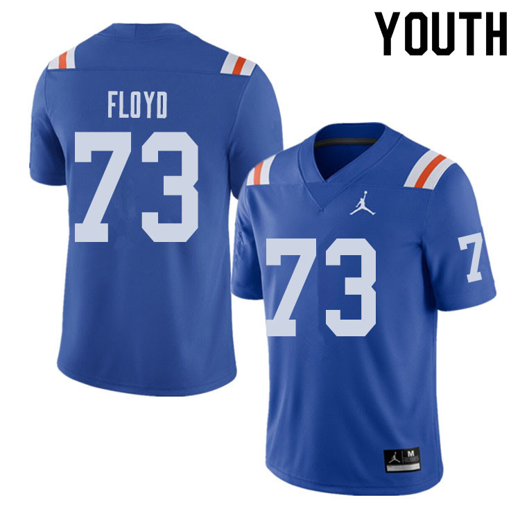 Jordan Brand Youth #73 Sharrif Floyd Florida Gators Throwback Alternate College Football Jerseys Sal