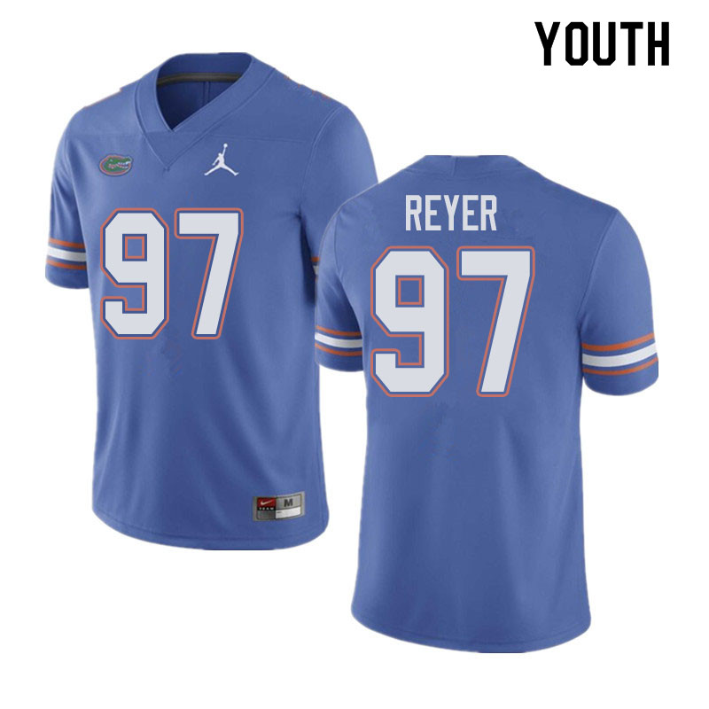 Jordan Brand Youth #97 Theodore Reyer Florida Gators College Football Jerseys Sale-Blue