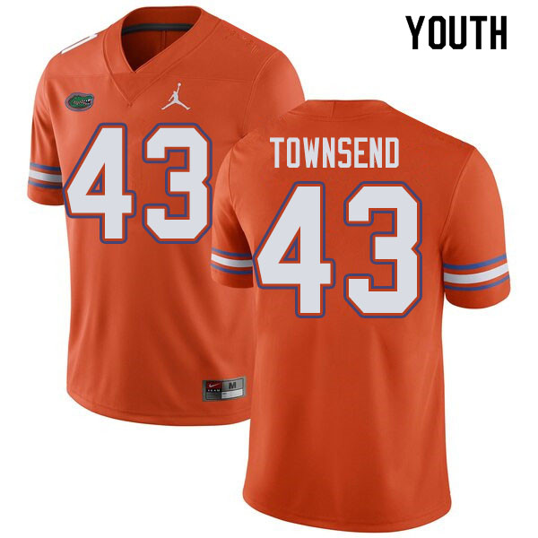 Jordan Brand Youth #43 Tommy Townsend Florida Gators College Football Jerseys Sale-Orange