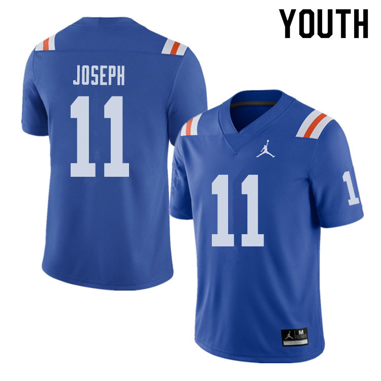 Jordan Brand Youth #11 Vosean Joseph Florida Gators Throwback Alternate College Football Jerseys Sal