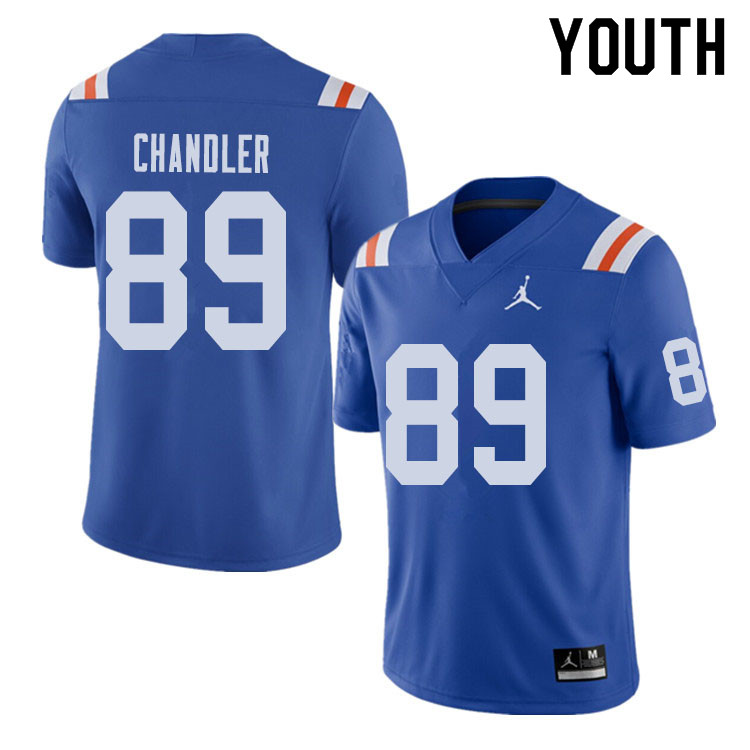 Jordan Brand Youth #89 Wes Chandler Florida Gators Throwback Alternate College Football Jerseys Sale