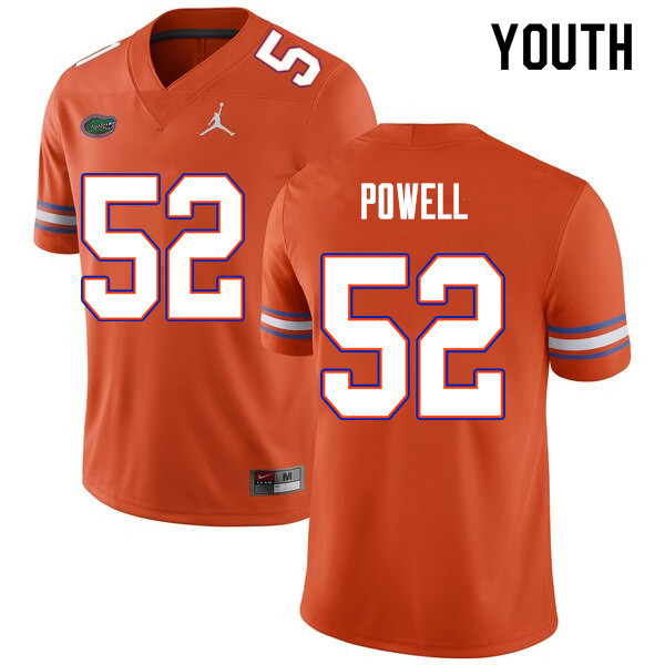Youth #52 Antwuan Powell Florida Gators College Football Jerseys Sale-Orange