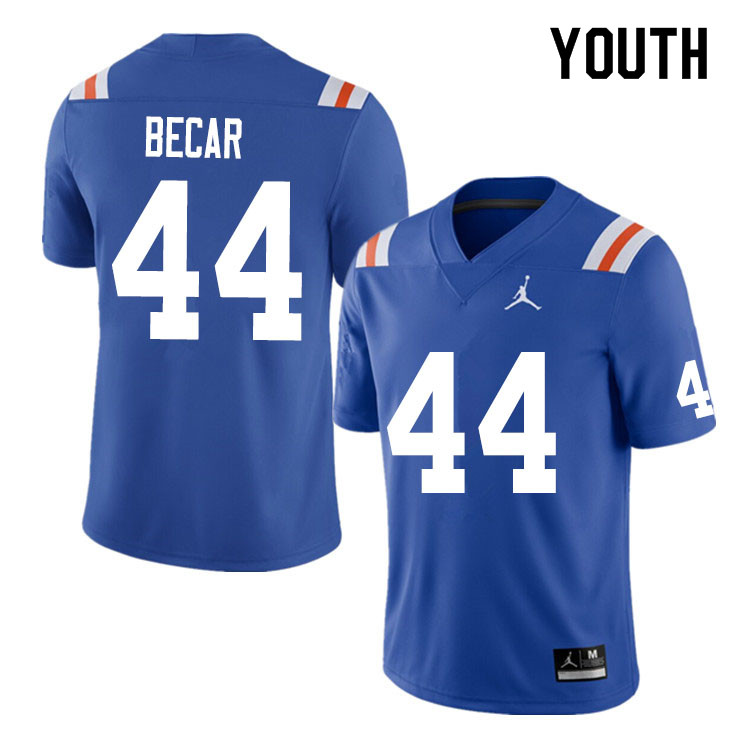 Youth #44 Brandon Becar Florida Gators College Football Jerseys Sale-Throwback