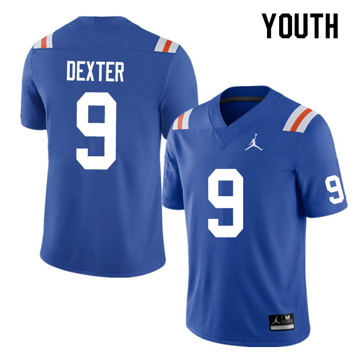 Youth #9 Gervon Dexter Florida Gators College Football Jerseys Sale-Throwback